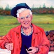 Oil Painting of Older Man woodsman