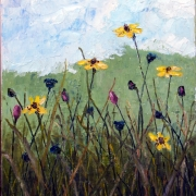 Oil painting of wild flowers