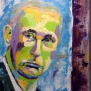 Oil painting of Putin