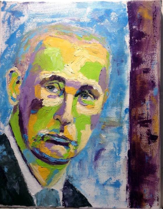 Oil painting of Putin