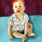 Oil Painting of child