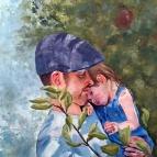 Apple of Dad's Eye (oil)