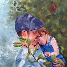 Apple of Dad's Eye (oil)