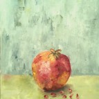 Pomegranate oil knife painting