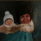Mother Daughter (oil)